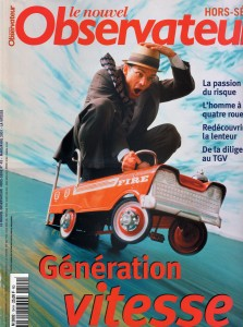 2001 Le Nouvel Obs cover Vitesse