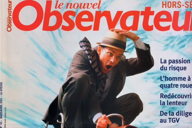 2001 Le Nouvel Obs cover Vitesse copie